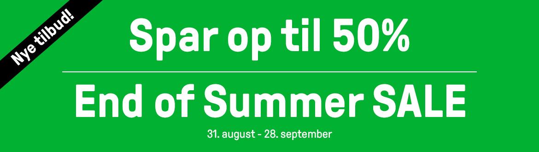 End of Summer Sale - udsalget er i gang