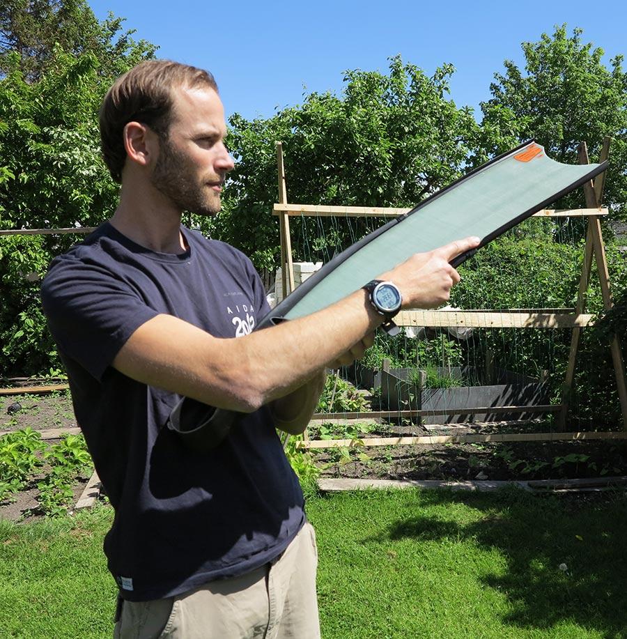 Test af glasfiber-finner til undervandsjagt