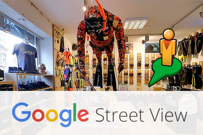 Kingfish på Google Street View