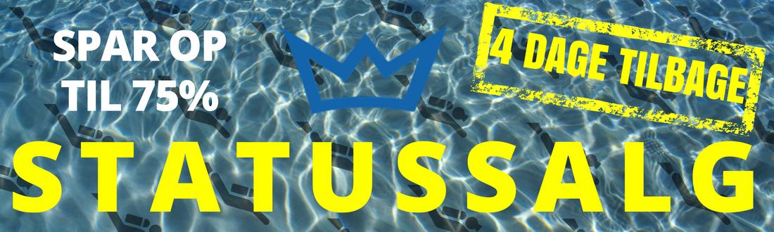 Statussalg - Op til 75% på dykkerudstyr
